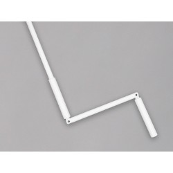 Manivelle Complète Acier Blanc sortie ronde 12 mm Longueur 190 cm