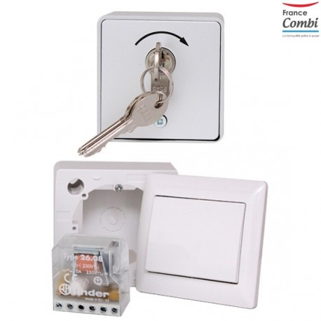 Contacteur à clef avec interrupteur