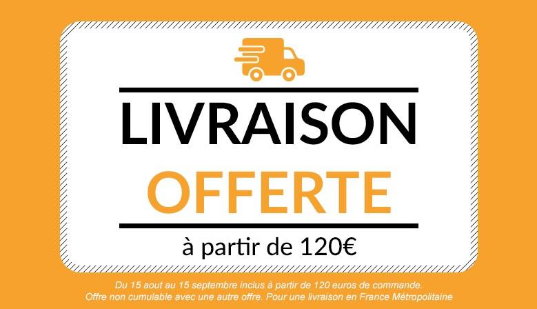Livraison offerte dès 120 euros d'achat hors fdp